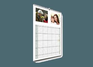 Billede af familiekalender der linker videre til produktside