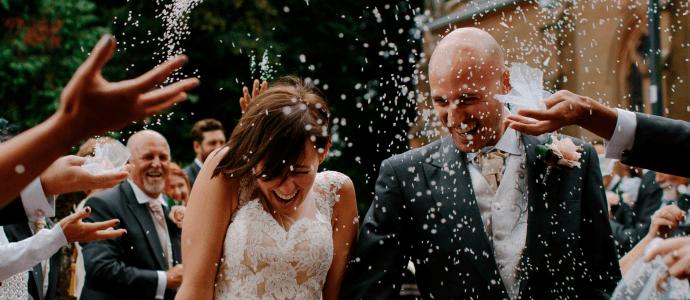 Billede af bryllup der linker til inspirationsside