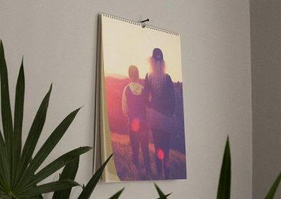 Brug fotokalenderen som vægudsmykning