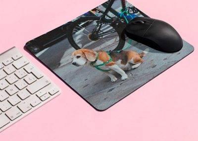 Lav en musemåtte med et billede af dit kæledyr